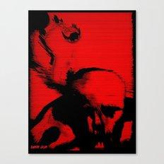 Parasite Oddity (Red Mix) Canvas Print