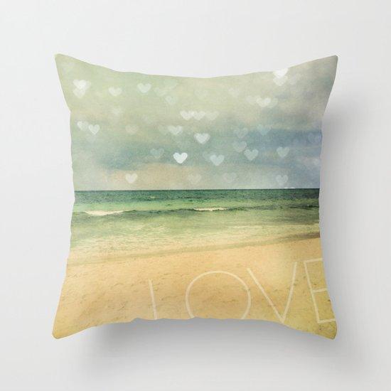 Throw Pillow Love : Beach Love Throw Pillow by Erin Johnson Society6