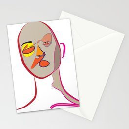 Face of Colours Stationery Cards