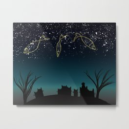 Fish constellation Metal Print