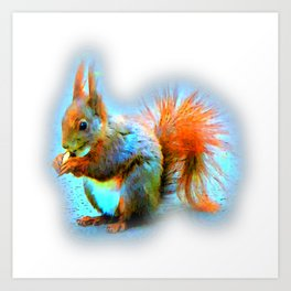 Squirrel in modern style Art Print