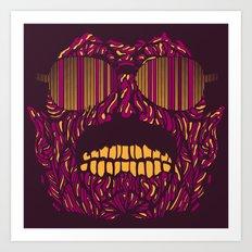 Zombie Freddy Mercury Art Print