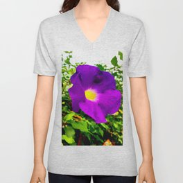 The Purple Flower Unisex V-Neck