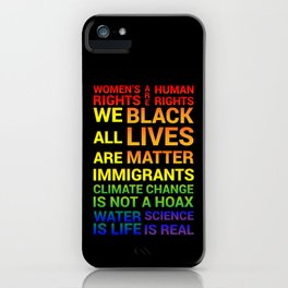 Women's Rights are Human Rights iPhone Case