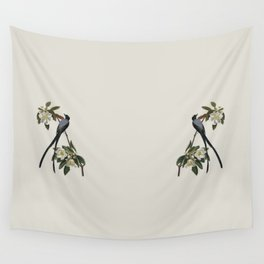 Fork-tailed Flycatcher Bird Illustration Wall Tapestry