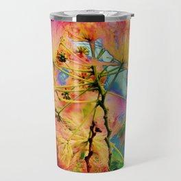 Psychedelic Flowers Travel Mug