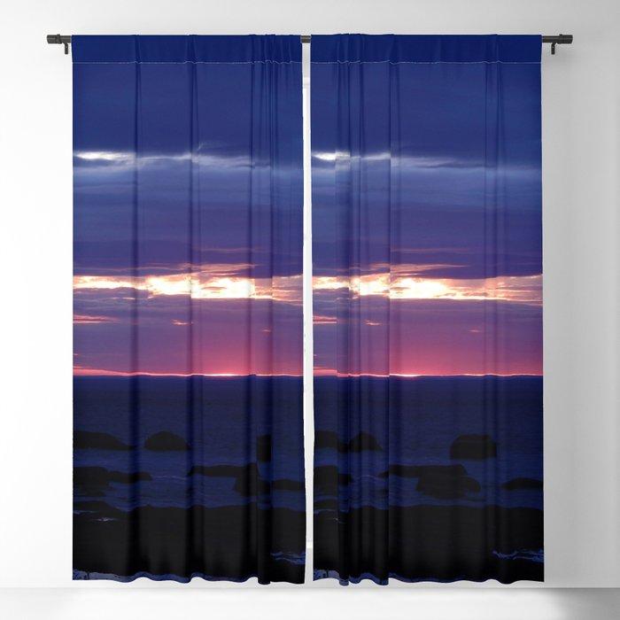 Purple Glow at Sunset Blackout Curtain
