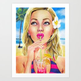 Summer - Watercolour Painting Art Print