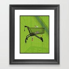 Trolley Gymnastics Framed Art Print