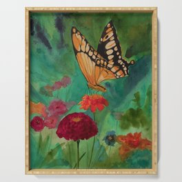 Summer Butterfly Serving Tray