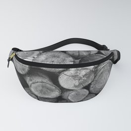 Pile of chopped firewood Fanny Pack