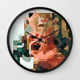 Fab Four (John) Abstract Watercolor Painting Wall Clock
