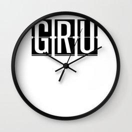 GRU São Paulo–Guarulhos International Brazil Airport Code Gift or Souvenir Gift or Souvenir Wall Clock