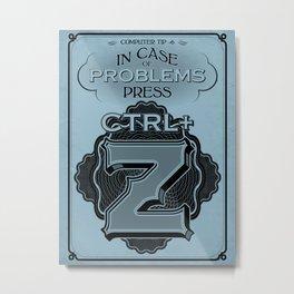 Control plus Z Metal Print