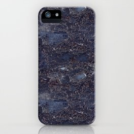 Blue marble pattern iPhone Case