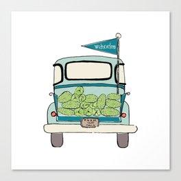 Watermelon Truck Canvas Print