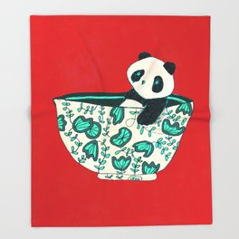 Dinnerware sets - panda in a bowl Throw Blanket