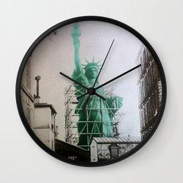 Statue of Liberty construction Wall Clock