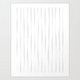 Line Pattern - Neutral Art Print