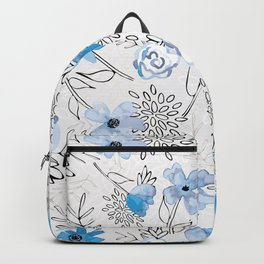 Blue Watercolor Pattern 2 Backpack