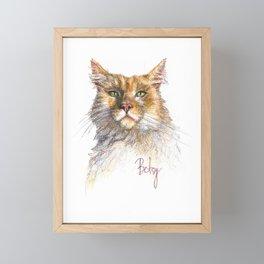 Digby the Red Torbi Siberian Cat Pet Portrait Framed Mini Art Print