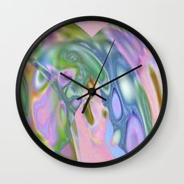 Rosey Blue Cotton Candy Too Wall Clock