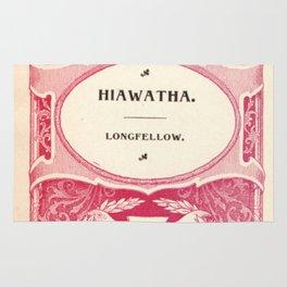 Antique Book Literacy Art * Hiawatha * Longellow * burgundy burgandy maroon cream Rug
