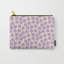 Lavender Flowers on Cream Carry-All Pouch