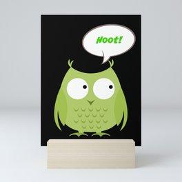 Owl Cartoon - Hoot Mini Art Print