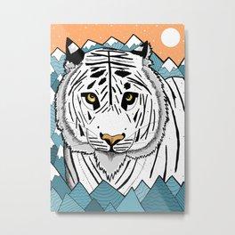 The White Tiger Metal Print