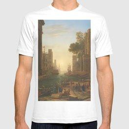 Claudio de Lorena the embarkation of saint paula romana T-shirt