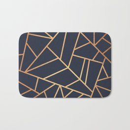 Copper and Midnight Navy Bath Mat
