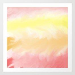 Warm Watercolor Color Pattern Art Print