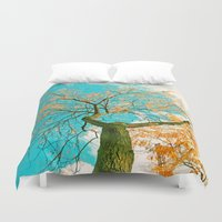 hero Duvet Covers featuring Autumn hero by Die Farbenfluesterin