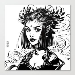 Witch Demoness Canvas Print