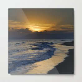 Sunrays over the sea Metal Print