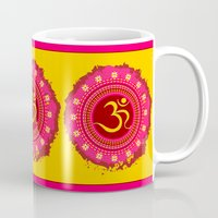 om Mugs featuring OM by nandita singh