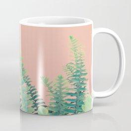 Ferns on Blush Coffee Mug