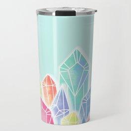 Crystals Green Travel Mug