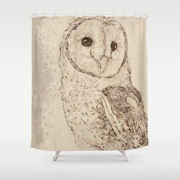 Endearing Barn Owl Shower Curtain