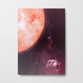 Drifting Astronaut  Metal Print
