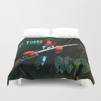 dc Duvet Covers featuring AC/DC by Don Kuing