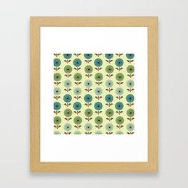 Atomic Age Flower Pattern 1 Framed Art Print