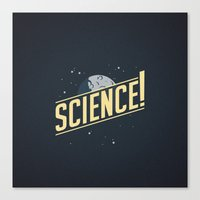 astronomy Canvas Prints featuring SCIENCE! Astronomy by Pojemotion