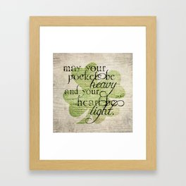An Irish Blessing  Framed Art Print