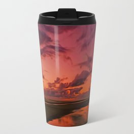 The Beach at sunset Travel Mug