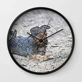 Impressive Animal - sketchy Dog Wall Clock