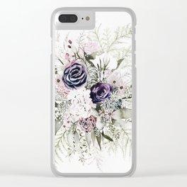Purple Bouquet Clear iPhone Case