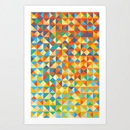 Triangles & Colors Art Print
