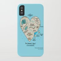gemma iPhone & iPod Cases featuring A Map of the Introvert's Heart by gemma correll